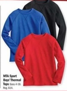 MTA Sport Boys' Thermal Tops