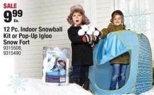 12PC Indoor Snowball Kit