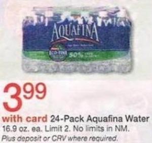 24 pk. Aquafina Water w/ Card
