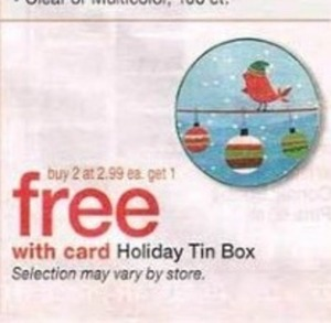 Holiday Tin Box w/ Card