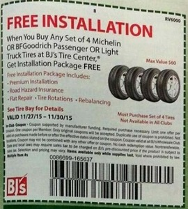 Purchase Set of 4 Michelin OR BF Goodrich Passenger or Light Truck Tires w/ Coupon