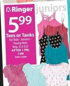 Juniors' Tees & Tanks