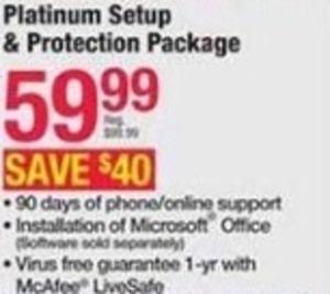 Platinum Setup & Protection Package