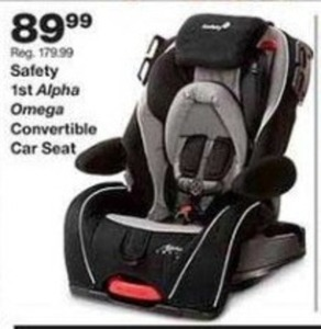 Safety 1st Alpha Omega Convertible Car Seat