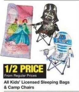 All Kids' Licensed Sleeping Bags & Camp Chairts