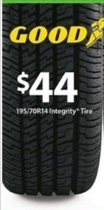 Goodyear Integrity 195/70R14 Tire