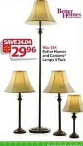 Better Homes and Gardens Lamps 4-Pack