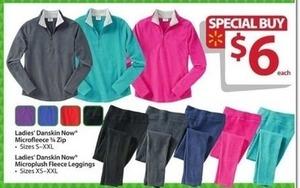 Ladies' Danskin Now Microfleece 1/4 Zip Jacket
