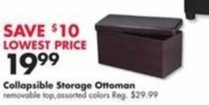 Collapsible Storage Ottoman