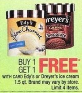 Edy's or Dreyer's Ice Cream