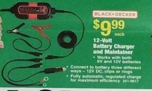 Black and Decker 12-Volt Batter Charger and Maintainer