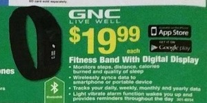 GNC Fitness Band with Digital Display
