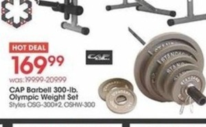 CAP Barbell 300-Lb. Olympic Weight Set