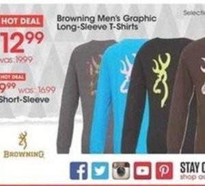 Browning Men's Graphic Long-Sleeve T-Shirts