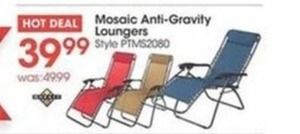 Mosaic Anti-Gravity Loungers