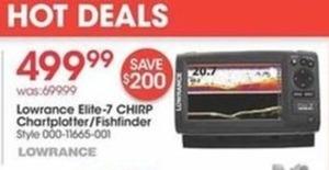 Lowrance Elite-7 Chirp Chartplotter/Fishfinder