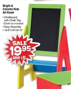 Bright & Colorful Kids Art Easel