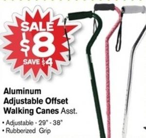 Aluminum Adjustable Offset Walking Canes
