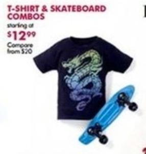 T-Shirt & Skateboard Combos