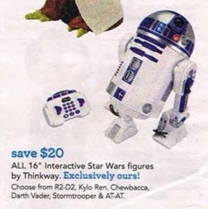 Entire Stock Thinkway 16-in. Interactive Star Wars Figures