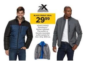 ZeroXposur Men's Rocker Softshell, Flex Puffer or Density Reversible Puffer Jackets