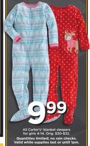 All Carter's Girls' Blanket Sleepers
