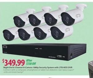 Night Owl 8-Channel 8-Camera 1080p Security System w/ 2TB HDD DVR