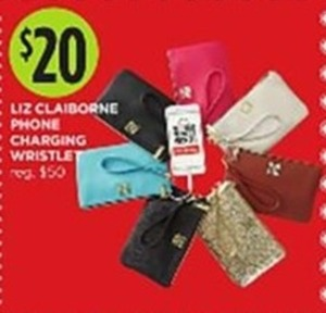 Liz Claiborne phone charging wristlet