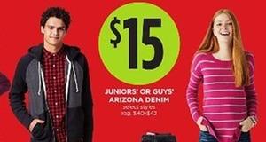 Arizona Juniors or Guys Denim