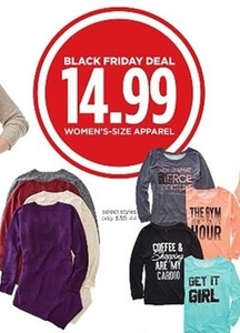 Select Styles of Women's Size Apparel
