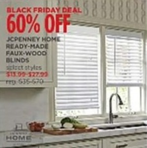 JCPenny Faux Wood Blinds