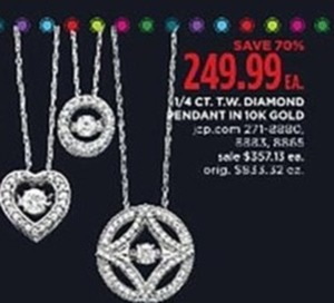 1/4 CT. T.W. Diamond Pendant in 10K Gold