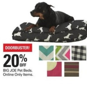 Big Joe Pet Beds (Online Only)
