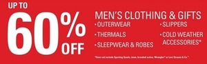 Men's Outwear, Thermals, Sleepwear, Robes, Slippers, & Cold Weather accessories