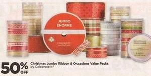 Celebrate It Christmas Jumbo Ribbon & Occasions Value Packs