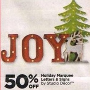 Studio Decor Holiday Marquee Letters and Signs
