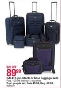 5-pc. Black Luggage Set