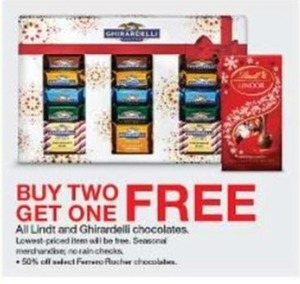 Lindt and Ghirardelli Chocolates