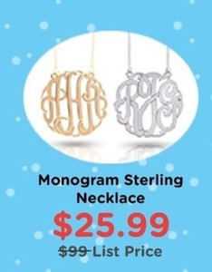 Monogram Sterling Necklace