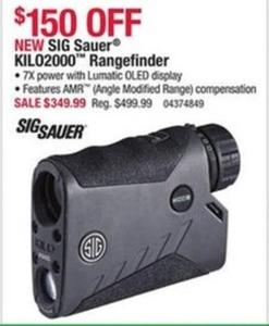 SIG Sauer KILO2000 Rangefinder SIG Sauer KILO2000 Rangefinder