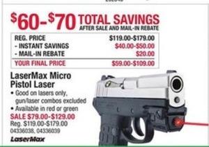 LaserMax Micro Pistol Laser
