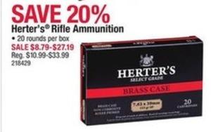Herter's Rifle Ammunition