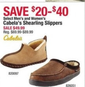 Select Cabela's Shearling Slippers