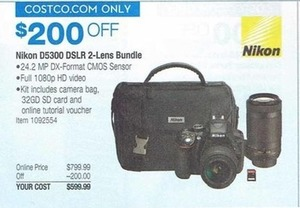 Nikon D5300 DSLR Camera 2 Lens Bundle
