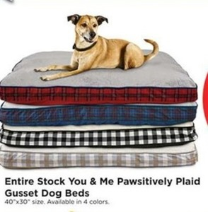Entire Stock of You & Me Positively Plaid Gusset Dog Beds