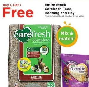 Entire Stock Carefresh Food, Bedding and Hay