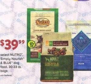 Select NUTRO Simply Nourish & BLUE Dog Food