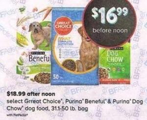 Select Grreat Choice, Purina Beneful & Purina Dog Chow Dog Food