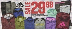 Select Men's and Women's adidas Fleece and Training Apparel