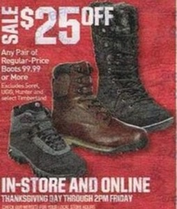 All Boots $99.99 and over